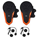 Veetop Motorrad Bluetooth Headset bis zu 3 Benutzer. 2er-Set Intercom