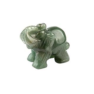 Hand Carved Jade elephant (37 * 30x20mm),Mamum 1Pcs Hand Carved Elephant Jade Gemstone Ornament Craft Paperweight
