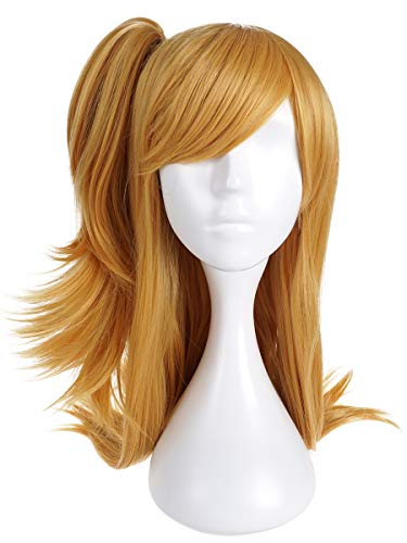 CoolChange Fairy Tail Cosplay Perücke von Lucy Heartfilia, Blond, Seitenzopf