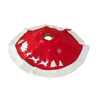 Brauns-Heitmann 82650 – Manta para árbol de Navidad, 90 cm, Color Rojo y Blanco