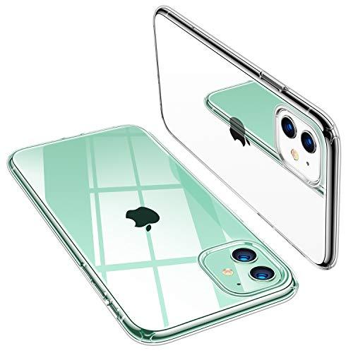 TORRAS Crystal Clear iPhone 11 Hülle, Transparent [Anti-Gelb] Dünn iPhone 11 Case Schutzhülle Silikon Klar Slim Stoßfest Clear Durchsichtige Bumper Cover Handyhülle für iPhone 11 - Transparent
