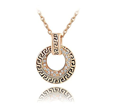 Hen-night Fashion Rose Gold Plated Austrian Crystal Pendant Necklace fashion jewelry. The Retro style by Hen