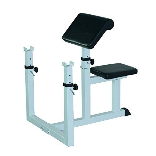Homcom Metall verstellbar römischen Stuhl Bluthochdruck Gewicht Erweiterung Bench ABS Bizeps Fitness Barbell Ständer Workout Home Gym (Workout Ausrüstung Stuhl)