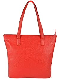 Preeti PU Red Tote Hand Bag For Women