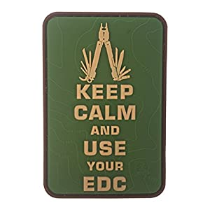 Keep Calm Use Your EDC outil multifonction Topo 3D Rubber Patch MultiCam