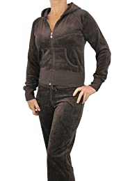 Love Lola® Womens Velour Tracksuits Ladies Full Luxury Lounge Suits Hoodys  Joggers Heart Designer Inspired 32213b44bf14