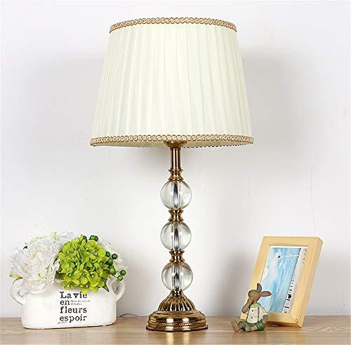 Tischleuchte Nachttischlampe Schreibtischleuchte Lampe Licht Ball Crystal Engineering Tischlampe Nachttischdekoration, Beige Rim Tischlampe,für Schlafzimmer Wohnzimmer Crystal Rim