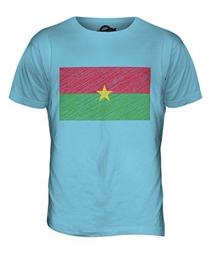 CandyMix Burkina Faso Kritzelte Flagge Herren T Shirt Himmelblau
