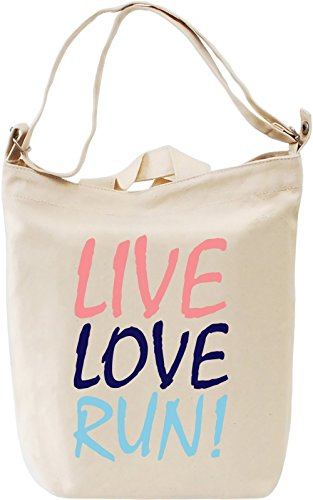 Live Love Run Funny Slogan Leinwand Tagestasche Canvas Day Bag| 100% Premium Cotton Canvas| DTG Printing|