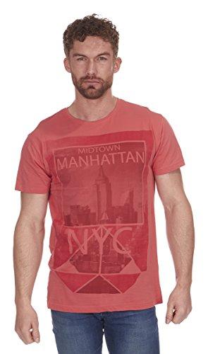 Cargo Bay Herren T-Shirt Coral Midtown