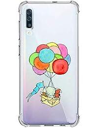 Oihxse Silicona Funda con Xiaomi Redmi 6 TPU Flexible Suave Transparente Protector Estuche Airbag Esquinas Reforzadas Ultra-Delgado Elefante Patrón Anti-Choque Caso (D8)