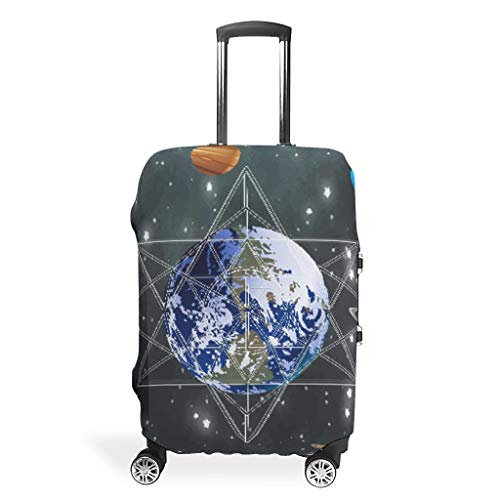 Leicht Mehrere Muster Reisegepäck-Regenschutzhüllen waschbar 18 to 32 Zoll für Handgepäck White XL(30-32 inch)