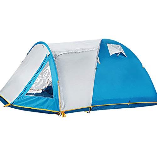 Outdoor Zelt,Tragbare Camping Picknick wandern Strand Zelt Double Layer verdicken Wasserdichte Sonne unterstände-Blau 385x215x140cm(152x85x55inch)
