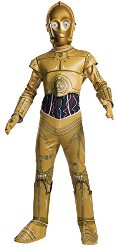 C3po Kostüm Wars Star - Rubie's Star Wars Child C-3PO Fancy Dress Costume Large