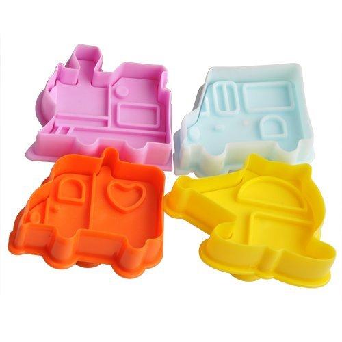 Fendii - Juego de 4 moldes cortadores para galletas y pasteles, herramienta...