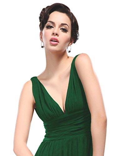 Ever-Pretty da donna he09016bk doppio V Elegante Abito Da Sera Dark Green2