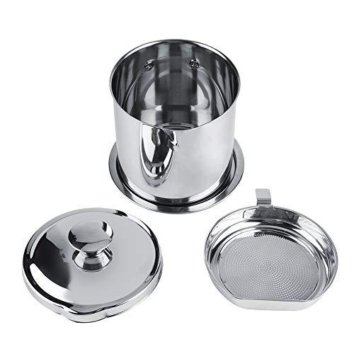 Portable Öl-filter (Fettbehälter - Portable Edelstahl Filter Öl Soja Milch Saft kann Küche Zubehör liefert)