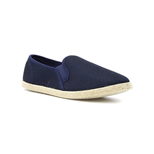 Red Fish Navy Slip On Espadrille - Size 10 UK - Blue