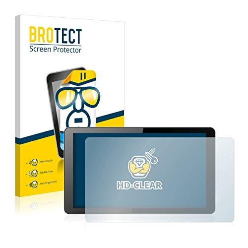 2X BROTECT HD Clear Bildschirmschutz Schutzfolie für i.onik Global Tab L1001 (kristallklar, extrem Kratzfest, schmutzabweisend)