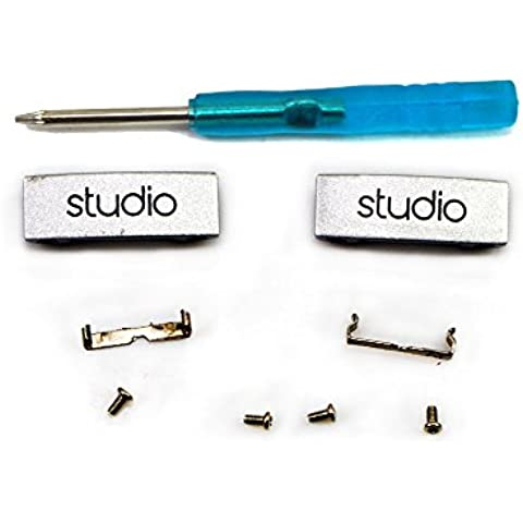 NSEN herramientas de reparación Kits de destornillador para auriculares Accesorios para Beats by Dr. Dre Solo HD (2pcs metal Tabs clips + 2pcs delgado metal clips + 1pcs del destornillador + 4pcs T5