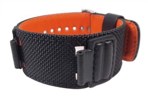 Casio Ersatzband Uhrenarmband Textil Band schwarz für G-303B G-353B AW-591MS DW-5600B (Textil-band)