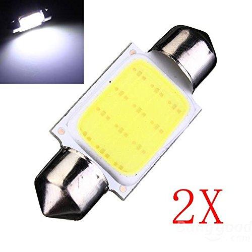 Preisvergleich Produktbild mark8shop 2x COB LED Auto KFZ Soffitte 36mm C5W Keil Innen Dome Lights