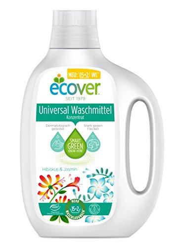 Ecover Universal Waschmittel Konzentrat Hibiskus & Jasmin, 3er Pack(3 x 850 ml)