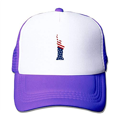 TEPEED Baseball Caps Statue of Liberty and US Flag Mesh Caps Trucker Hat Adjustable Hat, Unisex