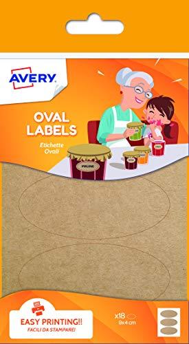 Ovale Etiketten für Marmeladen, 90 x 40 mm - Avery-etiketten-oval