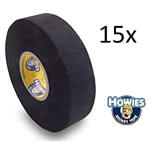 Howies 15x Schlägertape Profi Cloth Hockey Tape schwarz 25mm f. Eishockeytape
