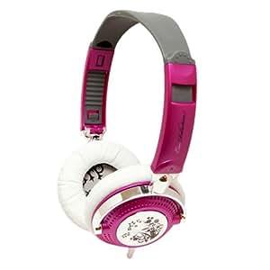 Ifrogz EarPollution Nerve Pipe Casque fermé pour mp3 / iPod Flower (Violet/Chrome)