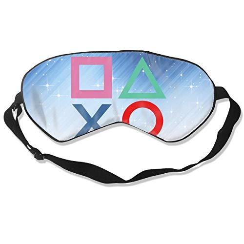 Schlafmaske mit elastischem Gurt, bequem, weich, atmungsaktiv, 100% Verdunkelung, für Nachtschlafen, Reisen, Nickerchen, Yoga, Meditation (Playstation Joypad)