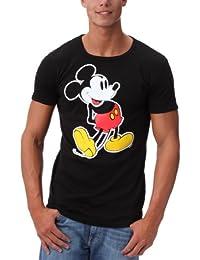 Disney - Camiseta de Mickey Mouse con Cuello Redondo para Hombre