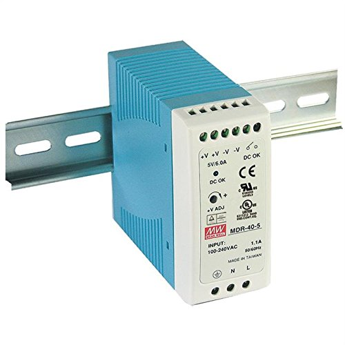 Din-Rail Netzteil 30W 5V 6A ; MeanWell, MDR-40-5