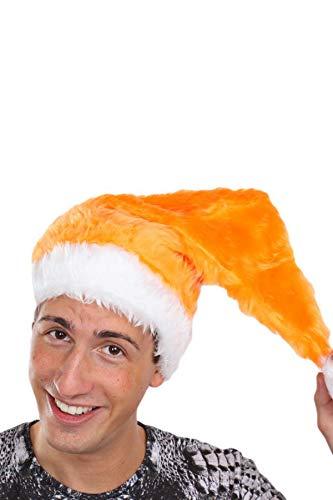 Orange Santa Kostüm - Marco Porta Nikolausmütze Erwachsene Plüsch