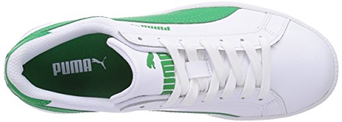 Puma - Puma Smash L, Sneakers Unisex – Adulto Bianco/Verde (White/Fern Green)