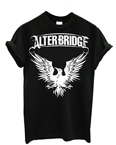 Herren-T-Shirt - Alter Bridge T-Shirt rock band 100% Baumwollee LaMAGLIERIA,M, Schwarz (Shirt Alter Bridge)