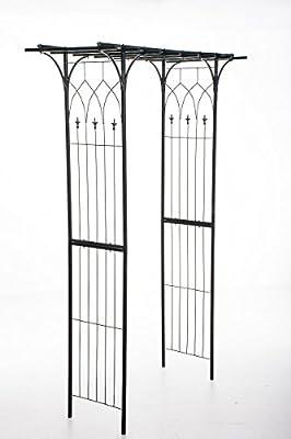 CLP Pergola Rosenbogen MAILAND, Metall (Eisen) pulverbeschichtet, ca. 150 x 50 cm, Höhe ca. 240 cm schwarz von CLP auf Du und dein Garten