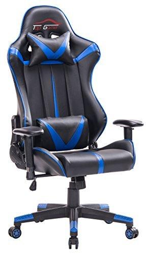 Top Gamer talla grande silla de oficina de escritorio computadora ergonomica racing gaming con masaje soporte lumbar y reposapiés ajustable