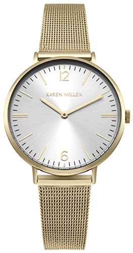 Karen Millen Womens Analogue Classic Quartz Watch with Stainless Steel Strap KM163GM