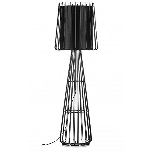 Fusion Living Lampada con paralume circolare a pavimento stile gabbia