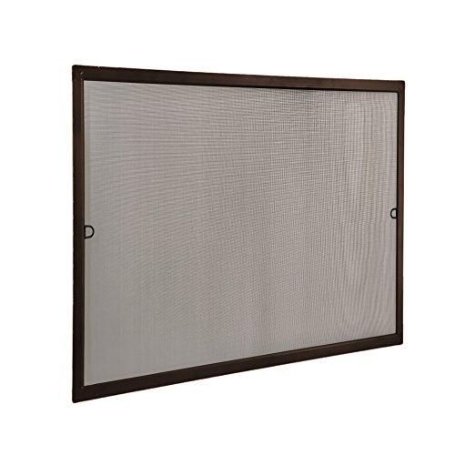 JAROLIFT Insektenschutz Spannrahmen SlimLine für Fenster 110 x 150cm in braun