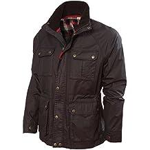 VEDONEIRE Chaqueta para hombre wax jacket (3050 BROWN)chaqueta abrigos de cera de algodón marrón