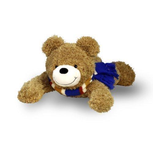 Energie Bär Benny | Kuscheltier mit energetischer Wirkung aus 100% Polyester (braun, liegend, 30 cm) | Spielzeug für Babys und Kinder - Energie-pakete