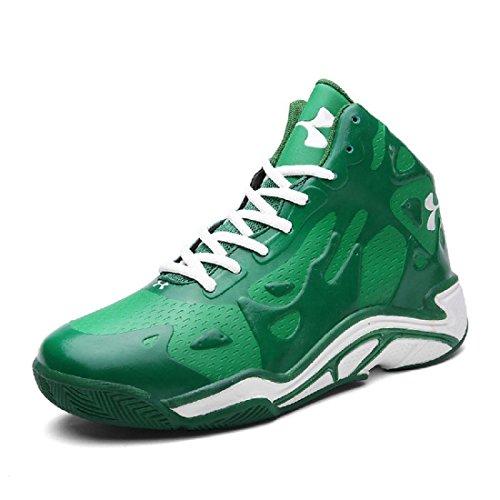 Uomo Moda Scarpe sportive formatori Scarpe da pallacanestro Aumenta le scarpe Ballerine Antiscivolo traspirante Scarpe da ginnastica Scarpe da corsa euro DIMENSIONE 36-45 green
