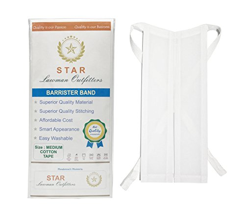 Star Barrister Band Superior, Cotton Tape With Self Tie, Medium (M), 6 Pack