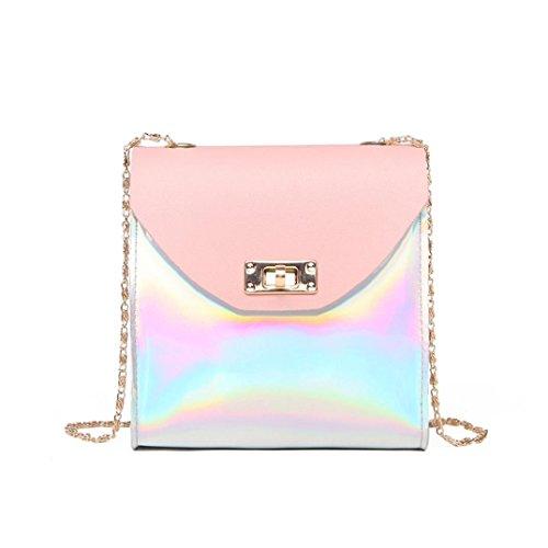 TUDUZ Citytasche Mode Frauen Umhängetasche Messenger Bag Handytasche Münztüte (Rosa)