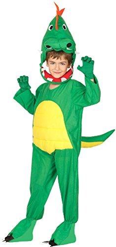 Fancy Me Jungen Mädchen grüner Dinosaurier Welttag des buches-Tage-Woche Halloween TV Buch Film Kostüm Kleid Outfit - Grün, 7-9 years