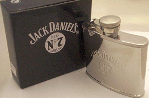 Jack Daniels Flachmann aus Edelstahl, Fassungsvermögen: ca. 120ml