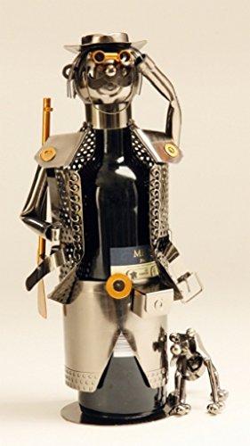 Flaschenhalter Jäger Metall Flaschenständer Weinhalter Metallständer
